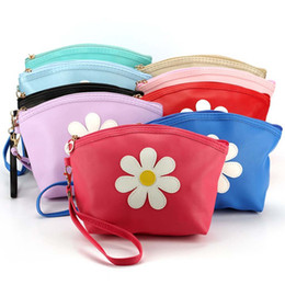 $enCountryForm.capitalKeyWord Australia - Fashion Women Bag Flower Leather Zipper Handbags Cosmetic Bag Makeup Pouch Purses Lady Small Coin Purse Clutch bolso mujer