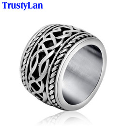 Mens Cluster Rings Australia - finger mens TrustyLan Retro Punk For Men New Arrival Fashion Jewelry Accessory Stainless Steel Casting Male Rings Finger Ring Man