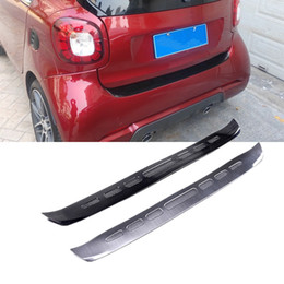 $enCountryForm.capitalKeyWord NZ - Car Rearguard Rear Bumper Cover Trunk Outer End Trim Sill Plate Protector Guard Sticker for Smart fortwo 2015 2016 2017