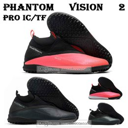 vision pro UK - GIFT BAG Mens High Ankle Football Boots React Phantom Vision 2 Pro Dynamic Fit IC TF Soccer Shoes Indoor Turf Soccer Cleats