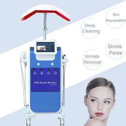 Salon microdermabraSion equipment online shopping - High quality dermabrasion system microdermabrasion acne removal hydra salon equipment cooler PDT LED photon improve facial skin