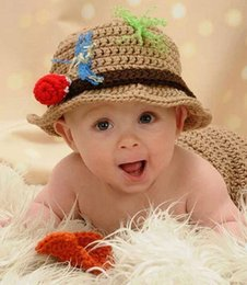 $enCountryForm.capitalKeyWord Australia - Baby Photography Props Baby Hat Costume Set Fisherman design Knitted Beanies Infant Photography Accessories
