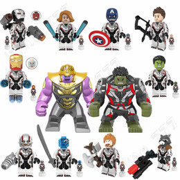 Discount spiderman building blocks - Super Heroes Marvel Avengers 4 Endgame Iron Man Thanos Thor War Machine spiderman Captain America Hulk Building Blocks t