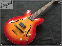 $enCountryForm.capitalKeyWord Australia - Wholesale - customized electric bass guitar see thru cherry burst,chrome parts,dots rosewood fingerboard inlay,free shipping!