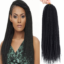 "havana mambo twist crochet braids NZ - 5 Packs 24"" Senegalese Twist Crochet Hair Braids Small Havana Mambo Twis Crochet Braiding Hair Senegalese Twists Hairstyles For Black Women"