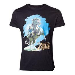 2bebaa19d Legend of Zelda Breath of the Wild - Link on his Horse Men's Medium T-Shirt  -... Men Women Unisex Fashion tshirt Free Shipping