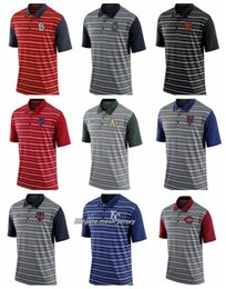 Red Stripe Polo Shirt Australia - Men Athletics Red Sox Mets Twins Mariners Giants Phillies Royals Reds White Sox Cardinals Stripe Polo Shirt