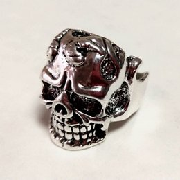 $enCountryForm.capitalKeyWord Australia - Free Shipping Mixed 100pcs Metal Reaper PUNK gothic Gothic Lolita Skull Style ring Men Band Jewelry Bikers (Arts and Crafts)