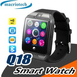 $enCountryForm.capitalKeyWord Australia - Q18 Smart Watch Bluetooth Smart watches for Android Cellphones Support SIM Card Camera Answer Call and Set up Various Language with package