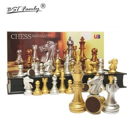 Magnetic board gaMes online shopping - Various models Chess Set Silver Gold Pieces Folding Magnetic Foldable Board Contemporary Board Games Gifts BSTFAMLY I39A