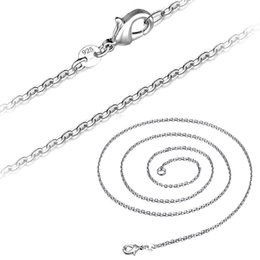 $enCountryForm.capitalKeyWord Australia - 50pcs925 Sterling Silver Snake Chain Necklace Ladies Necklace Smooth Chain Fashion Jewelry Size 1 mm 16 18 20 22 24 inches