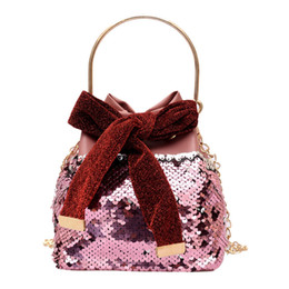 $enCountryForm.capitalKeyWord Australia - Fashion Mini Sequin Bucket Bag 2019 New Handbag Messenger Bag luxury handbags women designer high quality cross-body Bags A1