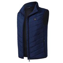 Carbon Coating UK - Warm Outdoor USB Charge Winter Waistcoat Vest Constant Temperature Thermal Clothing Carbon Fiber Electric Heating Coat Men