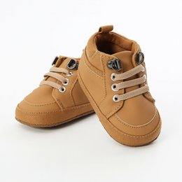 $enCountryForm.capitalKeyWord Australia - Baby Booties Newborn Boys Shoes Infant Kids Sneakers Toddler Pram Crib Shoes PU Canvas First Walkers Soft Sole Prewalker
