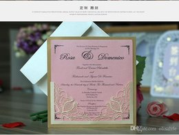 Flat Envelope NZ - Laser Cut Flower Wedding Invitation Cards Personalized Gold Hollow Wedding Party Printable Invitation Cards with Envelope Sealed Card
