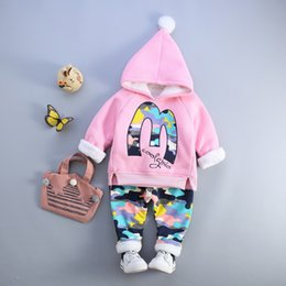 $enCountryForm.capitalKeyWord Australia - Girls Boys Winter Clothing Sets Fashion 1 2 3 4 Years Baby Infant Spring Autumn Cute Outfits For Girl Pink Gray Blue Three Color