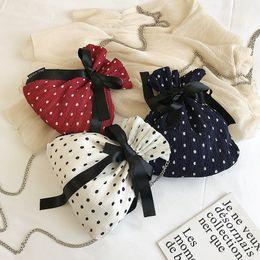 Silk Handbags Australia - Female Bucket Crossbody Bags For Women 2019 Silk Luxury Handbags Designer Sac Ladies Chains Ribbons Bow Shoulder Messenger Bag