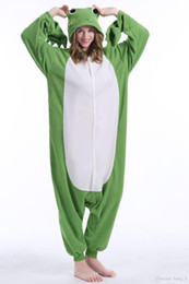 $enCountryForm.capitalKeyWord Australia - Animal Frog Pajamas High Quality Flannel Family Party Cartoon Onesies Cosplay Costumes Jumpsuits Sleepwear