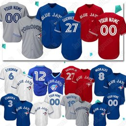 387d8b593 Custom jerseys Toronto 27 Vladimir Guerrero Jr Blue Jays jersey 12 Roberto  Alomar 6 Marcus Stroman jerseys 11 Kevin Pillar Baseball Jerseys