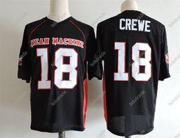 Football David Australia - The Longest Yard Movie Jersey EJ Paul Crewe #18 American Football Jersey Stitched Retro Jerseys Black High-quality In Stock