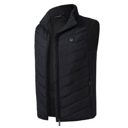 $enCountryForm.capitalKeyWord UK - Men Constant Temperature Waistcoat Coat Security Intelligence Thermal Winter Carbon Fiber Electric Heating Warm USB Charge Vest