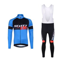 $enCountryForm.capitalKeyWord UK - SCOTT team Cycling Jersey Long Sleeves Bib Pants Sets mens Mountain bike Riding Clothes Wear resistant 3D Gel Pad suit Q70247