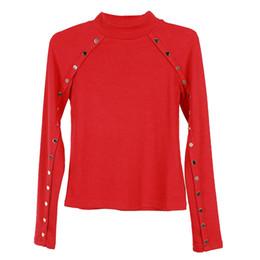 High Elastic Neck T Shirts UK - 2019 Winter Women T-shirt Fashion Slim Comfortable Elastic Warm High-necked Soft Wool Long-sleeved Cotton Backing Shirt