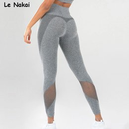 Yoga Pants Leggings Australia - High Stretchy Sports Flex Seamless Leggings for Women Energy Yoga Pants Mesh Fitness Tights Gym Legging Scrunch Butt Legging
