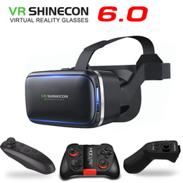 wireless helmets Australia - Original VR Shinecon 6.0 Virtual Reality 3D Glasses Cardboard VRBOX Helmet For 4.0-6.0 inch Smartphone With Wireless Controller
