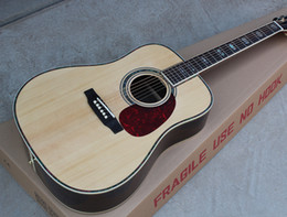Top acousTic guiTars online shopping - Custom Factory quot Acoustic Guitar with Solid Spruce Top Color Binding Red Tortoiseshell Guard Adding Pickups Customized Personalized De