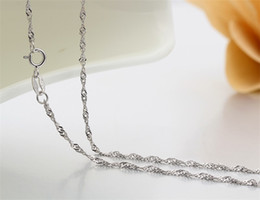 Sterling Silver children chainS online shopping - 35cm cm Thin Sterling Silver Twisted Singapore Water Wave Chain Link Necklaces Women Girls Kids Child Jewelry Kolye quot