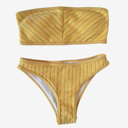 6a08b07643a1 Sexy Bandeau Bikini Women Swimsuit 2019 Beach Wear Swimwear Female  Brazilian Biquinis Tube Top Girls Bathing Suits Swimming Suit
