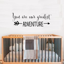 $enCountryForm.capitalKeyWord Australia - You Are Our Greatest Adventure Quotes Wall Sticker Children Room Quote Lettering Wall Decals Removable Nursery Quotes Decor Q325