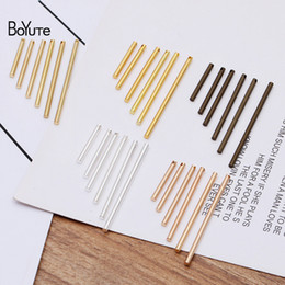 one piece earring Australia - BoYuTe (100 Pieces Lot) 35MM 40MM Metal Brass Cylindrical Stick with one Hole Diy Earrings Jewelry Making Materials