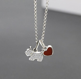 Puppy Pendants Australia - Agate Pendant Necklace Fashion Personality High Quality 100%925 Sterling Silver Lady Cute Puppy Pendant Necklace Jewelry Gift