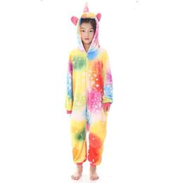 cd638f9260 Winter boys girls Unicorn Pajamas Kigurumi Animal Star Pyjamas child onesies  Cosplay Flannel Onesie Sleepwear MX-036