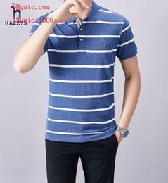 $enCountryForm.capitalKeyWord Australia - mens t shirts Brand fashion Business mens stripe Cotton shirt tracksuit polo shirt male M-3XL High quality short-sleeved men s clothing N45