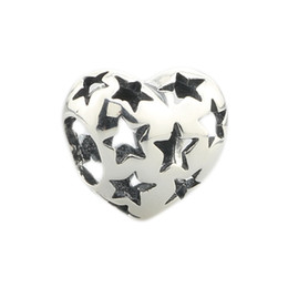 China new 925 Sterling Silver Star Heart Charm Bead Fit European Bracelet Fit for Pandora Snake Chain Bracelet DIY Jewelry cheap charms star sterling suppliers