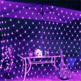 OutdOOr decOratiOn lamps online shopping - New m m M M M M m m M M LED MeshString Net Lights Ceiling Christmas Party Wedding Outdoor Decoration lamps