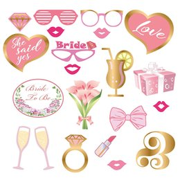 $enCountryForm.capitalKeyWord Australia - Wedding Photo Booth Props Bride To Be Photo Booth Party Decorations Bridal Shower Bachelorette Accessories Birthday