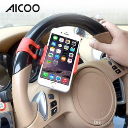 Wholesale Universal Car Phone Stand Car Steering Wheel Phone Holder Bike Clip Mount Stent for IPhone X s SAMSUNG GALAXY S8 Retail Package