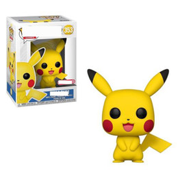 Wholesale Funko POP Pikachu Toys Funko POP Peluche Anime Cartoon Pikachu PVC Dolls Cartoon Animals Toys Furnishing Articles Best Gifts