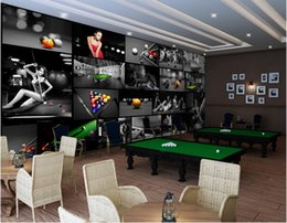$enCountryForm.capitalKeyWord NZ - 3d wallpaper custom photo mural Beautiful sexy girl in modern billiard room Home decor living Room glitter wallpaper for walls 3 d