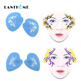 Painting Faces Australia - Soft Face Body Airbrush Paint Stencils Reusable Template Temporary Tattoo Painting Makeup Design for Christmas Halloween Makeup