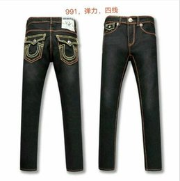bleach crystals NZ - Free Shipping true High quality hot Mens Robin Rock Revival Jeans Crystal Studs Denim Pants Designers Trousers Men's size 30-40 80899