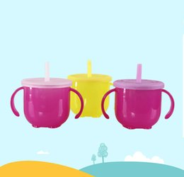 cute tumblers NZ - Children Training Cups 160ml Baby Bottle Kids Cup Silicone Sippy Tumbler Cute Baby Drinking Water Straw Handle Feeding Bottle