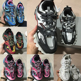 Black ladies sports shoes online shopping - new fashion Triple S Track Trainers men s sports running shoes designer Clunky sneakers black orange ladies walking luxury Paris dirty