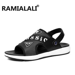 $enCountryForm.capitalKeyWord Australia - Ramialali Men Genuine Leather Sandals Quality Comfortable Hollow Soft Breathable Casual Outdoors Beach Shoes Fashion Slippers