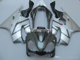 Injection Abs Fairings Australia - Injection mold ABS plastic fairings for Honda CBR600 F4I 04 05 06 07 silver blakc fairing kit CBR600 F4I 2004-2007 IY24