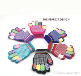 $enCountryForm.capitalKeyWord Australia - Children Magic Gloves Fashion Kids Warm Wnter Knit Gloves Boy Girl Colored ski Slip-Proof Glove
